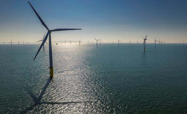 RWE Renewables plans to build the Dublin Array wind farm, with up to 61 turbines. Photo: RWE