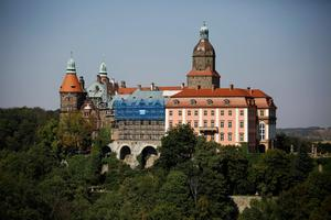 Ksiaz Castle is pictured in an area where a Nazi train is believed to be at, in Walbrzych, southwestern Poland, August 31, 2015. Poland said on Friday it was almost certain it had located the Nazi train rumored to have gone missing near the close of World War Two loaded with guns and jewels.