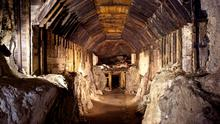 Part of a subterranean system built by Nazi Germany in what is today Gluszyca-Osowka, Poland