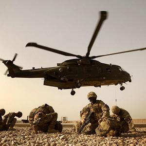 British crews who fly Merlin helicopters have begun working with Afghan medics on the evacuation of wounded soldiers from the battlefield