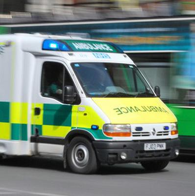 The injured man was taken to the James Paget University Hospital