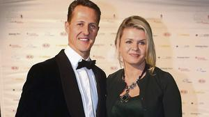 Formula One driver Michael Schumacher and his wife Corinna