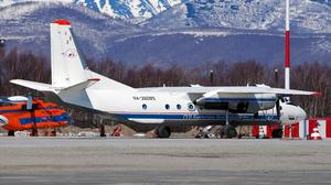 Russian An-26 plane with the tail number RA-26085 is seen in Petropavlovsk-Kamchatsky, Russia Russia's Emergencies Ministry/Handout via REUTERS