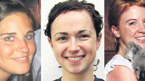 Irish victims of the Air France crash Jane Deasy, Eithne Walls and Aisling Butler