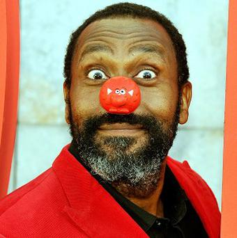Lenny Henry, a veteran of the Comic Relief charity, celebrates 25 years of Red Nose Day