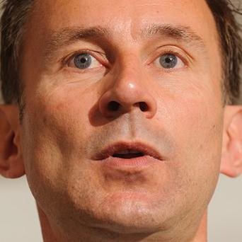 File photo dated 17/08/2012 of Health Secretary Jeremy Hunt, who will today outline his ambition to make England the best place in Europe to grow old. PRESS ASSOCIATION Photo. Issue date: Thursday October 25, 2012. Mr Hunt is expected to say that improving care for dementia sufferers is one of his top priorities. In his second speech as Health Secretary, he will tell the National Children's and Adults' Services Conference in Eastbourne, East Sussex, that dementia is one of the