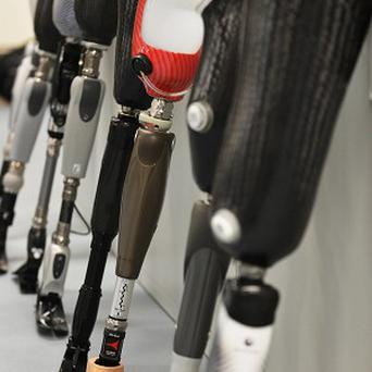 State-of-the-art micro processor limbs, known as 'bionic legs'