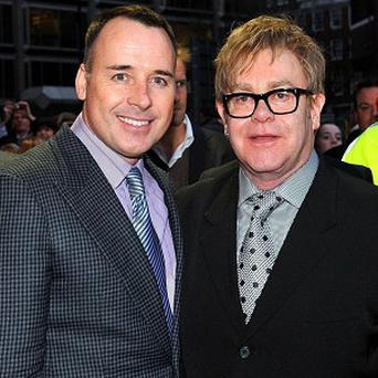 Sir Elton John and partner David Furnish welcomed new son Elijah in January