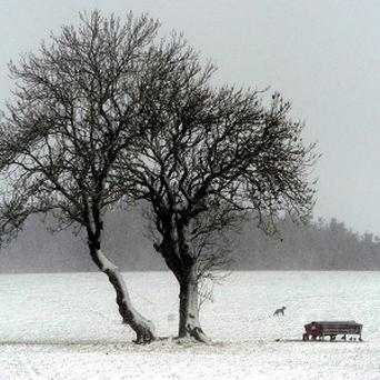 Forecasters warned there could be snow over the weekend as temperatures remain low