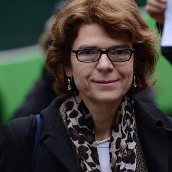 Vicky Pryce arrives at Southwark Crown Court in London for her retrial