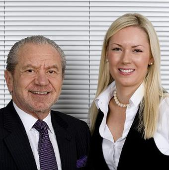 Stella English, right, was crowned winner of The Apprentice in 2010