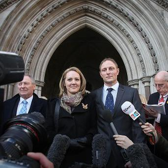 Sally and Danny Nightingale leave the High Court in London