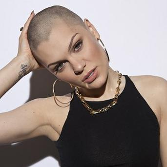 Jessie J after she had her hair shaved off for Comic Relief