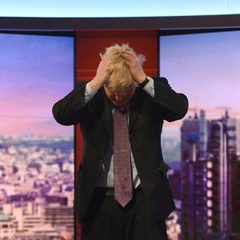 Boris Johnson on the BBC1 current affairs programme The Andrew Marr Show (Jeff Overs/BBC/PA)