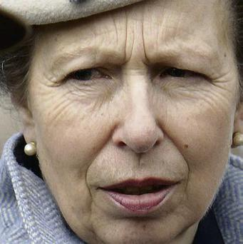 Princess Anne enjoying the Gold Cup day at Cheltenham yesterday