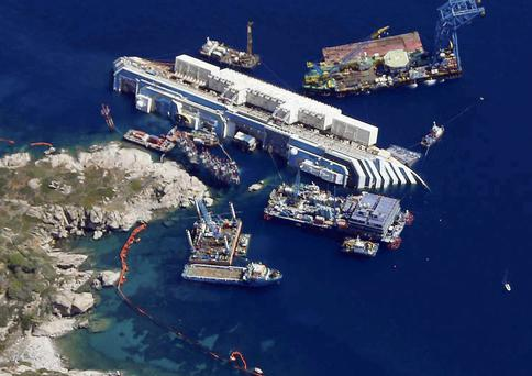 The Costa Concordia was beginning a week-long cruise in the Mediterranean when it capsized and its larders and freezers were packed to capacity for its 4,200 passengers and crew.