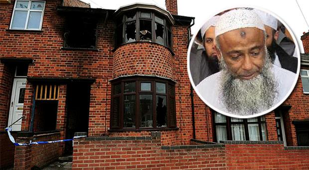 The house in Leicester where the wife and three children of Dr Muhammad Taufiq Al Sattar were killed in a blaze