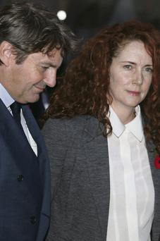 Rebekah Brooks and husband Charlie leave the Old Bailey court house in London