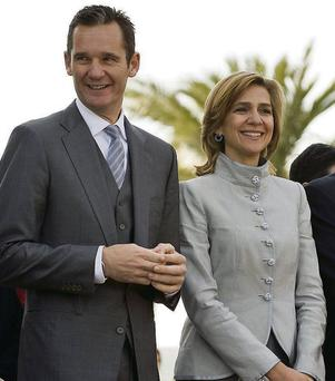 Spain's Princess Cristina and her husband, Inaki Urdangarin