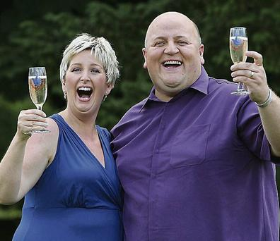 Adrian and Gillian Bayford in happier times. Sean Dempsey