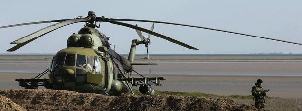 File picture of MI-8 military helicopter
