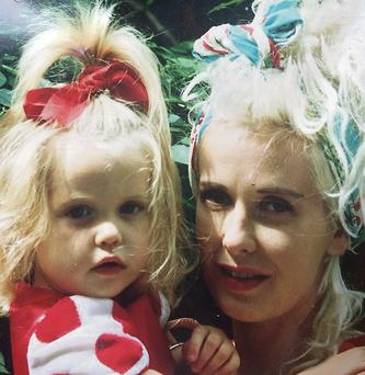 A young Peaches with her mother Paula Yates who died in 2000.