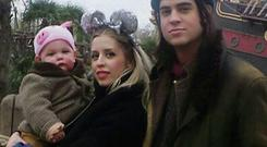 Peaches with her husband Thomas Cohen and their baby son Astala.