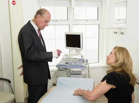 Prince Philip during a visit to the Margaret Pyke Centre