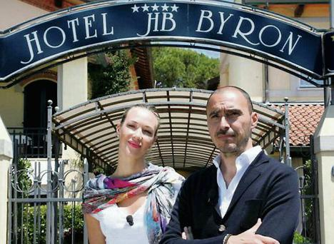 Russian model Ljudmila Radcenko and hotelier Salvatore Madonna will be passing on advice