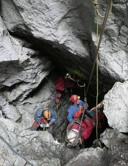 Caver Johann Westhauser is finally freed from the Bavarian mountains after 11 days