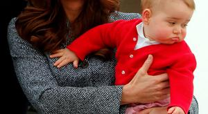 Kate Middleton with her baby George