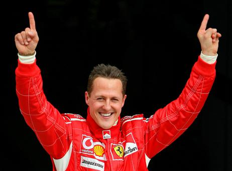 Michael Schumacher who has been sent home from hospital