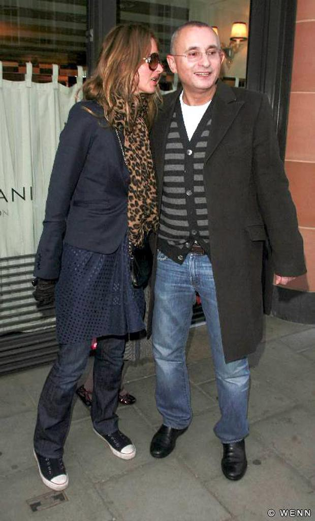 Trinny Woodall and former husband Johnny Elichaoff