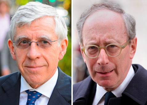 Jack Straw,left and Sir Malcolm Rifkind. The two former foreign secretaries are facing accusations that they were prepared to use their positions and contacts to benefit a private company in return for payments of thousands of pounds (PA Wire)