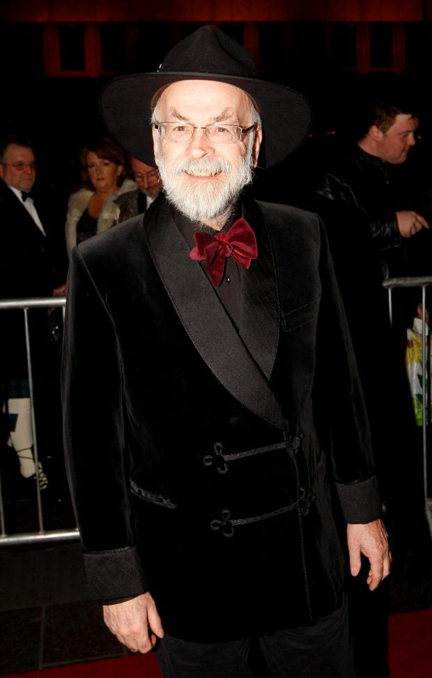 Terry Pratchett who has died at the age of 66.