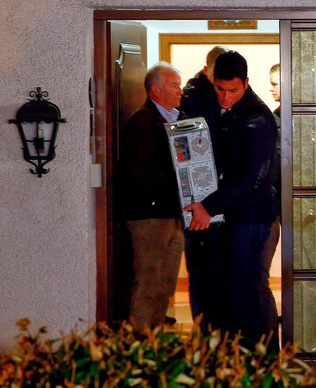 Police at the home of pilot Andreas Lubitz