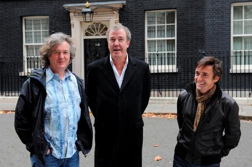 James May, Jeremy Clarkson and Richard Hammond.