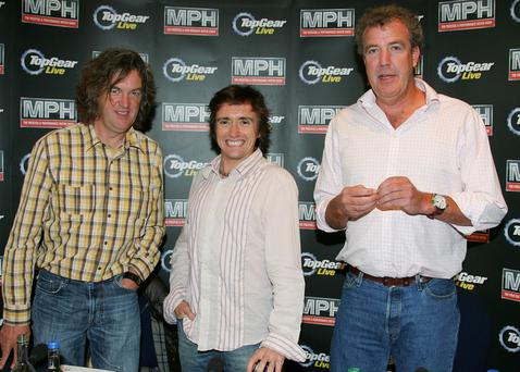 James May and Richard Hammond with Jeremy Clarkson