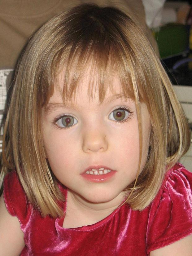 Madeleine McCann, who disappeared aged three.