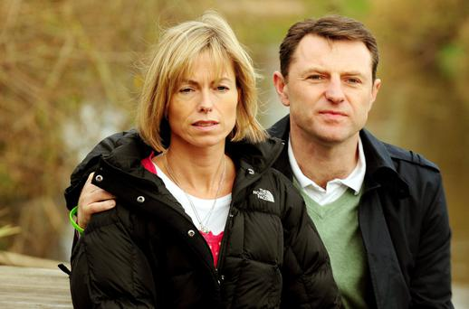 Kate and Gerry McCann, parents of disappeared girl Madeleine McCann.