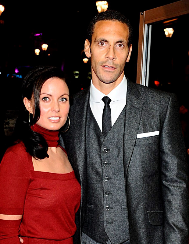 SOUL MATE: Rio Ferdinand and his wife Rebecca Ellison who has died of cancer in a London hospital