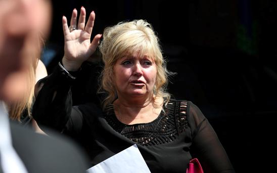 Linda Nolan has begun repaying the debt of £6,000