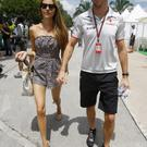 Jessica Michibata, with fiance Jenson Button