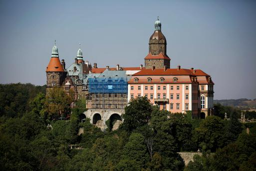 Ksiaz Castle, in Walbrzych, Poland, the site of the 'gold rush'