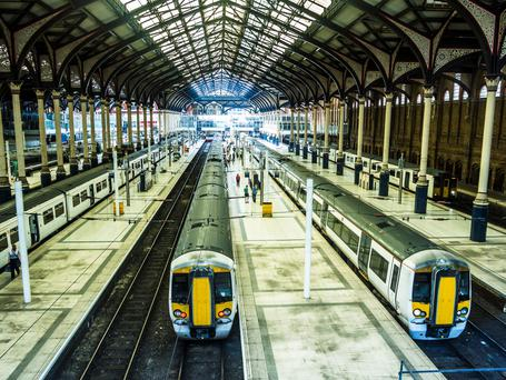 Trains at Liverpool Street Station, London