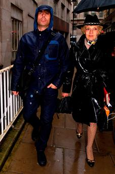 Liam Gallagher and solicitor Fiona Shackleton at court in London