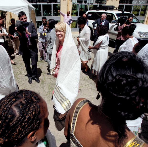 Sabina Higgins in Addis Ababa, Ethiopia, during President Michael D Higgins's official visit to three African nations last year. Rising economic growth rates are creating a new middle class across Africa with more disposable income Photo: Chris Bellew/Fennell Photography