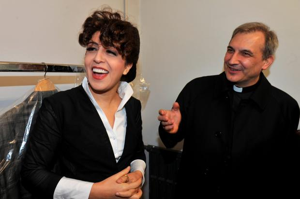 Lucio Angel Vallejo Balda (R) stands next to social media expert Francesca Chaouqui. The Vatican has arrested Vallejo and Chaouqui for allegedly stealing and leaking classified documents.