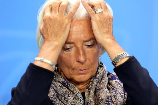 IMF chief Christine Lagarde who said she plans to appeal a decision to send her to trial over a €400m payment made to French businessman Bernard Tapie in 2008. Photo: Getty Images