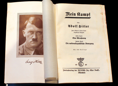 A copy of 'Mein Kampf', Adolf Hitler's notorious anti-Semitic book